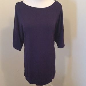 NWOT Eloquii Cotton Top with accent Stitching
